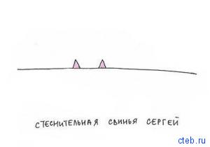 стеснительная свинья Сергей