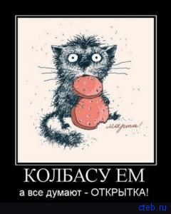 Колбасу ем