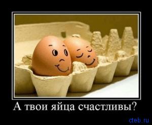 В твои яйца счастливы?