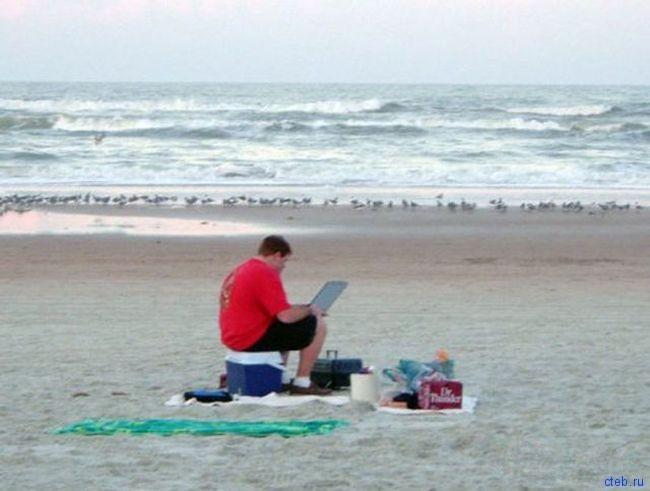 На нашем пляже бесплатный Wi-Fi