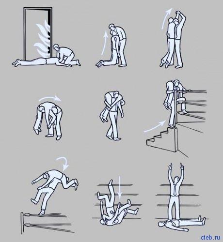 Правила спасения на пожаре