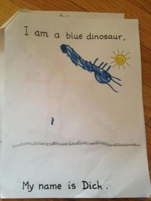 Голубой динозаврик